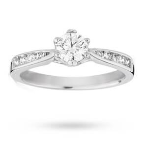 EXCLUSIVE - 0.65 carat total weight brilliant cut solitai ...