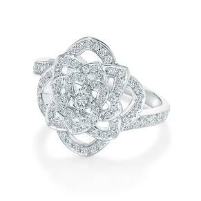 Floresco White Gold and Diamond Ring