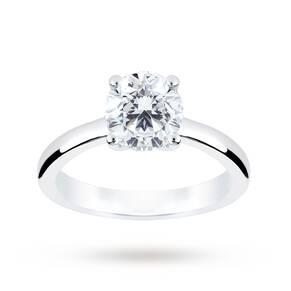 Platinum 1.50 Carat Diamond Solitaire Ring - Ring Size L