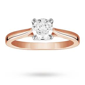 Solitaire Brilliant Cut 0.70 Carat Diamond Ring Set In 18 ...