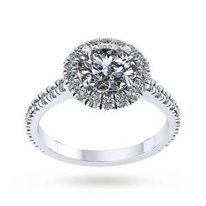 Mappin & Webb Amelia Engagement Ring With Diamond Band 0. ...