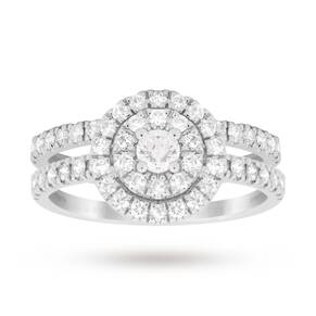 Brilliant Cut 1.00 Total Carat Weight Cluster Bridal Set ...