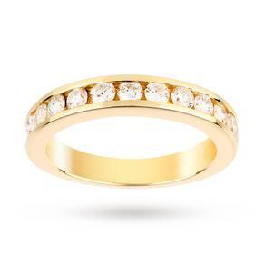 18 Carat Yellow Gold 12 Stone 0.75 Carat Diamond Eternity Ring