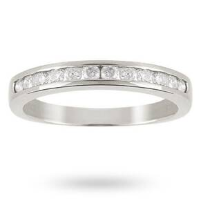 Brilliant Cut 0.25ct Channel Set Half Eternity Ring In 9c ...