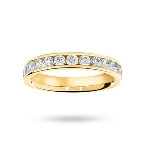 18 Carat Yellow Gold 0.75 Carat Brilliant Cut Half Eternity Ring