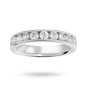 9 Carat White Gold 1.00 Carat Brilliant Cut Half Eternity Ring