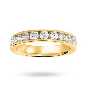 9 Carat Yellow Gold 1.00 Carat Brilliant Cut Half Eternity Ring