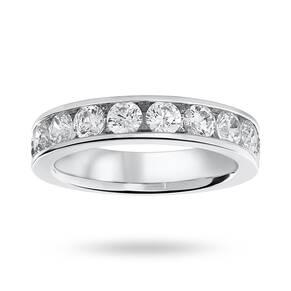 Platinum 1.50 Carat Brilliant Cut Half Eternity Ring