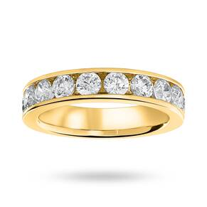 18 Carat Yellow Gold 1.50 Carat Brilliant Cut Half Eternity Ring