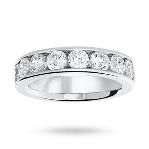 18 Carat White Gold 1.85 Carat Brilliant Cut Half Eternity Ring