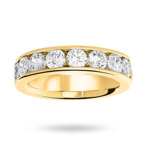 18 Carat Yellow Gold 1.85 Carat Brilliant Cut Half Eternity Ring