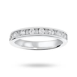 9 Carat White Gold 0.50 Carat Dot Dash Half Eternity Ring