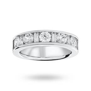 18 Carat White Gold 1.45 Carat Dot Dash Half Eternity Ring