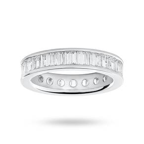 9 Carat White Gold 2.00 Carat Baguette Cut Full Eternity Ring