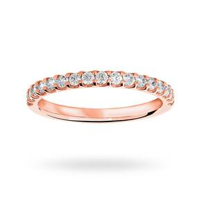 18 Carat Rose Gold 0.33 Carat Brilliant Cut Half Eternity