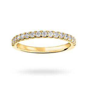 18 Carat Yellow Gold 0.33 Carat Brilliant Cut Half Eternity