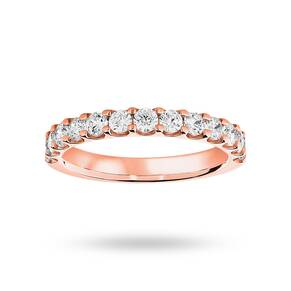 18 Carat Rose Gold 0.75 Carat Brilliant Cut Half Eternity