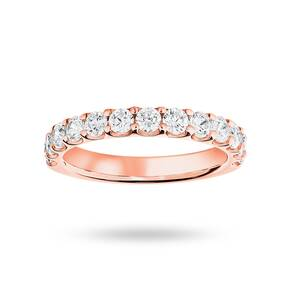 18 Carat Rose Gold 1.00 Carat Brilliant Cut Half Eternity