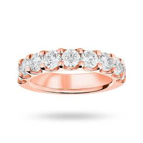 18 Carat Rose Gold 2.10 Carat Brilliant Cut Half Eternity