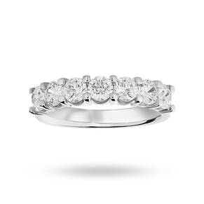 Platinum 1.30 Carat Brilliant Cut Under Bezel Half Eternity Ring