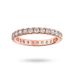 18 Carat Rose Gold 1.00 Carat Brilliant Cut Claw Set Full Eternity Ring