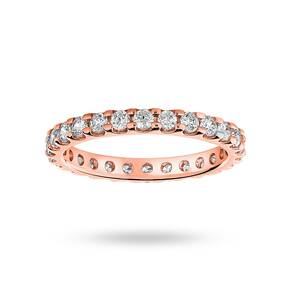 9 Carat Rose Gold 1.00 Carat Brilliant Cut Claw Set Full Eternity Ring