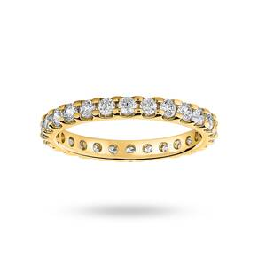 9 Carat Yellow Gold 1.00 Carat Brilliant Cut Claw Set Full Eternity Ring