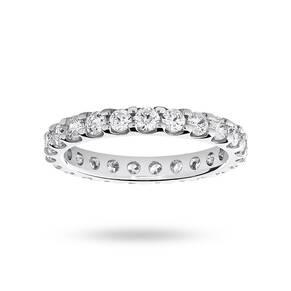9 Carat White Gold 1.50 Carat Brilliant Cut Claw Set Full Eternity Ring