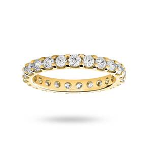 9 Carat Yellow Gold 1.50 Carat Brilliant Cut Claw Set Full Eternity Ring