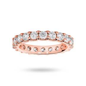 9 Carat Rose Gold 2.00 Carat Brilliant Cut Claw Set Full Eternity Ring