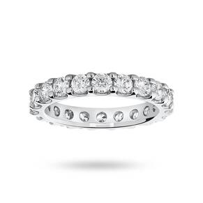 9 Carat White Gold 2.00 Carat Brilliant Cut Claw Set Full Eternity Ring