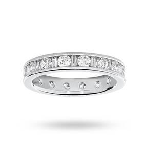 9 Carat White Gold 1.50 Carat Dot Dash Channel Set Full Eternity Ring