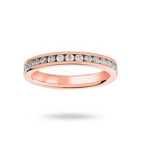 9 Carat Rose Gold 0.75 Carat Brilliant Cut Channel Set Full Eternity Ring
