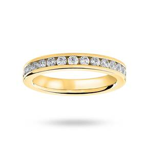 9 Carat Yellow Gold 1.00 Carat Brilliant Cut Channel Set Full Eternity Ring