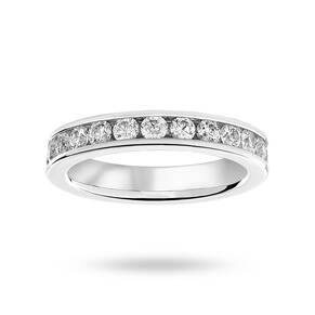 Platinum 1.50 Carat Brilliant Cut Channel Set Full Eternity Ring