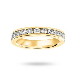 9 Carat Yellow Gold 1.50 Carat Brilliant Cut Channel Set Full Eternity Ring