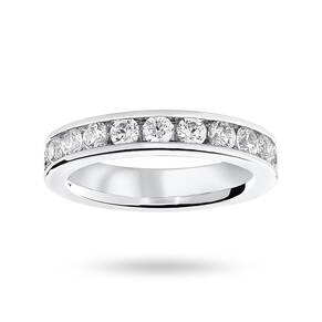 Platinum 2.00 Carat Brilliant Cut Channel Set Full Eternity Ring