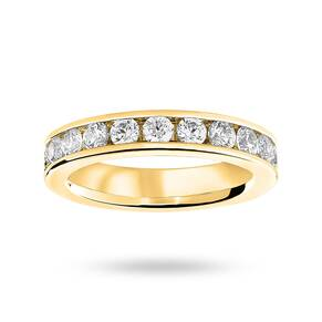 18 Carat Yellow Gold 2.00 Carat Brilliant Cut Channel Set Full Eternity Ring