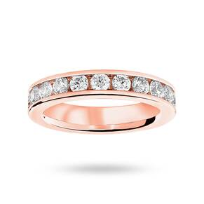 9 Carat Rose Gold 2.00 Carat Brilliant Cut Channel Set Full Eternity Ring