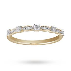 Brilliant And Marquise Cut Diamond Half Eternity Ring In ...