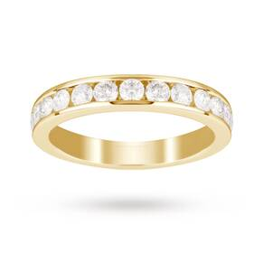 18ct Yellow Gold 1.00 Carat Total Weight Eternity Ring- Ring Size J
