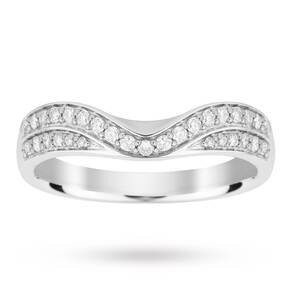 18ct White Gold 0.30 Total Carat Weight Diamond Set Shaped Band