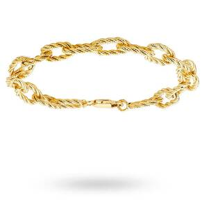 9ct Yellow Gold Texture Link Bracelet