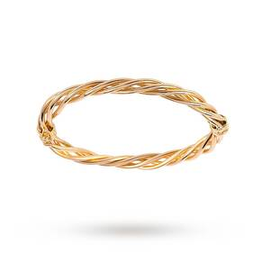 9ct Yellow Gold Open Weave Bangle