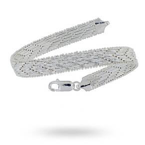 Silver Chevron Bracelet