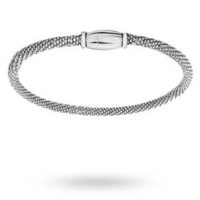 Silver Popcorn Bracelet