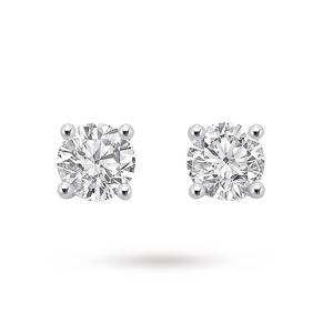 9ct White Gold 1.00ct Brilliant Cut Stud Earrings