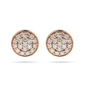 9ct Yellow Gold 0.25ct Pave Stud Earrings