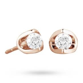 9ct Rose Gold 0.20ct Tension Set Diamond Earrings