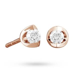 9ct Rose Gold 0.15ct Tension Set Diamond Earrings